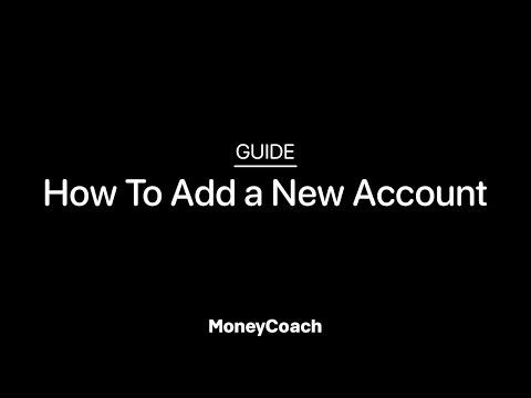 How To Add a New Account in MoneyCoach App - Guide