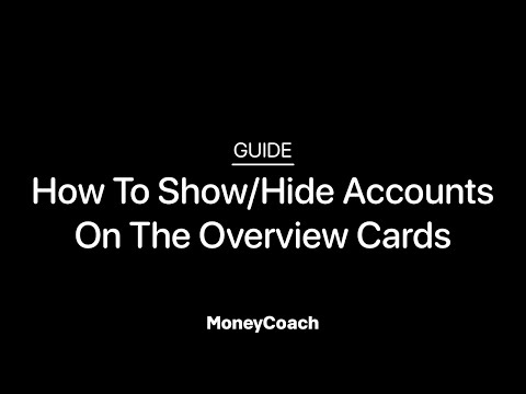 How To Show/Hide Accounts On The Overview Cards in MoneyCoach App - Guide