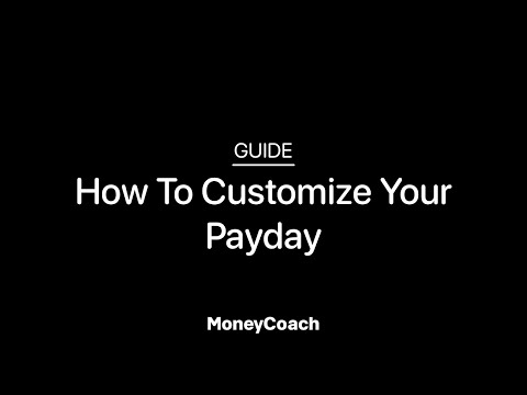 How To Customize Your Payday In MoneyCoach App - Guide