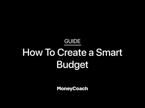 How To Create a Smart Budget in MoneyCoach App - Guide